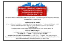 Dumpster/Shredder/Donation Day