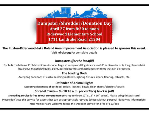 Dumpster/Shredder/Donation Day